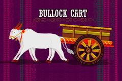 Indian Bullock cart representing colorful India Royalty Free Stock Images