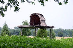 Indian Burial Hut. Located in Maryland Stock Images