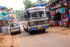 Indian Bus. Bus in the village of Palolim Stock Image