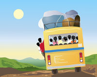 Indian bus travel Stock Photos
