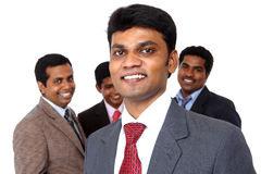 Indian business head with his team Royalty Free Stock Photo