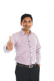 Indian business male with thumbs up Royalty Free Stock Photography