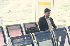 Indian business male. Waiting at the airport Royalty Free Stock Photos