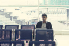 Indian business male. Waiting at the airport Royalty Free Stock Images