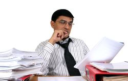 Indian Business Man At Work. Stock Images