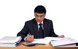 Indian Business Man At Work. Royalty Free Stock Photo