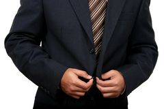 Indian Business man getting ready to go to office (2). Business man getting ready to go to office (2) with clipping path Royalty Free Stock Images