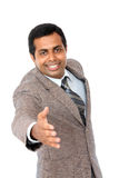 Indian business man giving handshake Stock Photos
