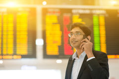 Indian Business man on his business travel Royalty Free Stock Photos