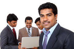 Indian business man with his team Stock Photos
