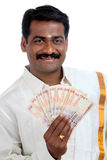 Indian business man with Indian money Royalty Free Stock Photo