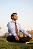 indian business man meditating Stock Images