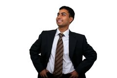 Indian business man smiling. Royalty Free Stock Photos