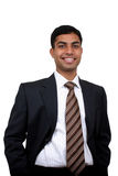 Indian business man smiling. Clipping path available Stock Photo
