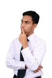 Indian business man thinking.  Stock Image