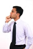 Indian business man thinking. Royalty Free Stock Images