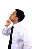 Indian business man in thinking pose Royalty Free Stock Photography