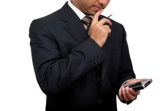 Indian business man using pda (3) Royalty Free Stock Photography
