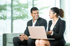 Indian Business man & woman working. Stock Photos