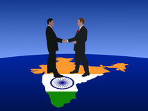 Indian business men meeting Royalty Free Stock Photos