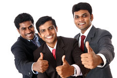 Indian business people cheer up. On white background Stock Images
