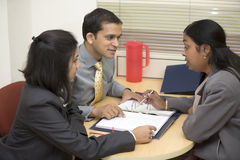 Indian Business people in a Meeting Stock Photography