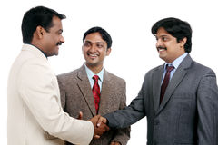 Indian business professional meeting Stock Image