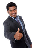 Indian business professional showing thumbs up Stock Photo