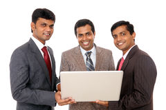 Indian business professionals with laptop Royalty Free Stock Photos
