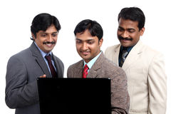 Indian business professionals with laptop Royalty Free Stock Image