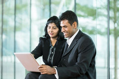 Indian Business team using digital tablet. Stock Photo