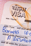 Indian Business Visa royalty free stock images
