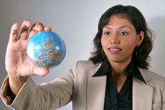 Indian business woman with global vision royalty free stock photo