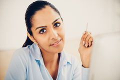 Indian business woman pretty smiling office Royalty Free Stock Photos