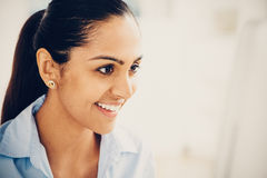 Indian business woman pretty smiling office Royalty Free Stock Image