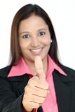 Indian business woman showing thumbs up Royalty Free Stock Photos