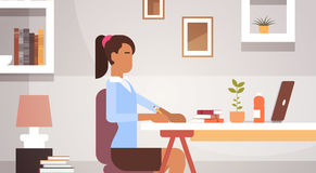 Indian Business Woman Sitting Desk Working Businesswoman Office Stock Photo