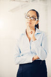 Indian business woman thinking future Stock Images