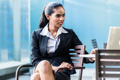 Indian Business woman working with laptop Royalty Free Stock Photography
