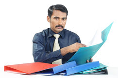 Indian businessman checking Stock Images