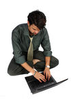 Indian Businessman on Laptop Stock Photography