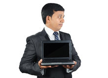 Indian Businessman with Laptop Royalty Free Stock Photography