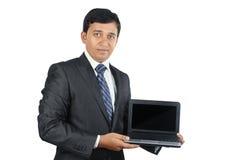 Indian Businessman with Laptop Stock Photos