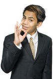 Indian businessman OK sign Stock Image