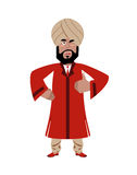 Indian businessman shows well. Indians with beard.  Stock Photography