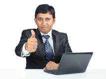 Indian Businessman with thumbs up Royalty Free Stock Image