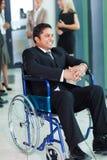 Indian businessman wheelchair Stock Photos