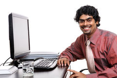 Indian businessman working Stock Image