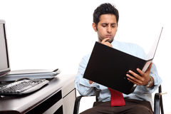 Indian businessman working Royalty Free Stock Image