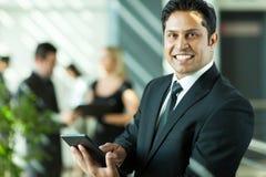 Indian businessman working stock image